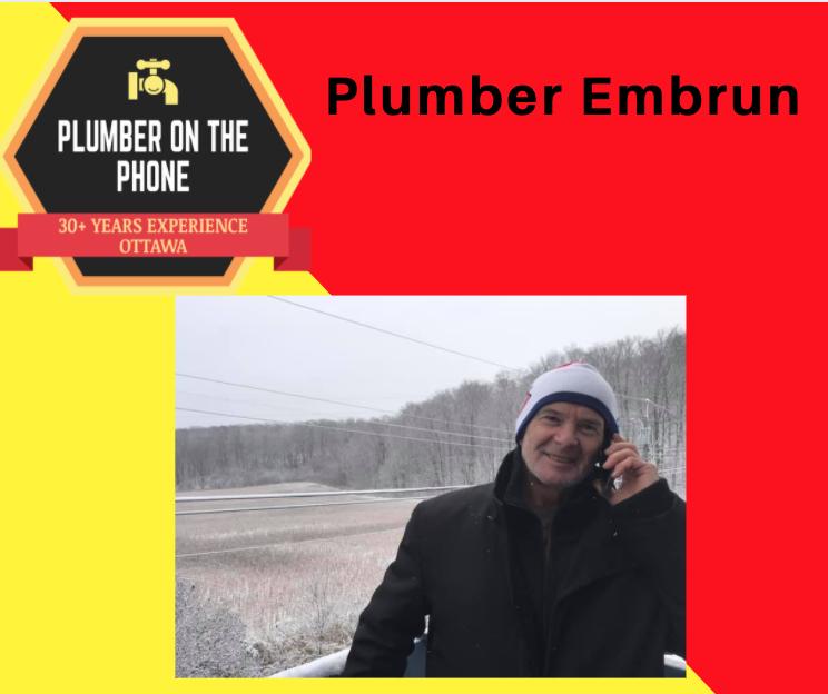 plumber embrun plumber on the phone